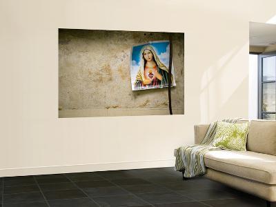 Image of Virgin Mary Hanging in Medical Clinic in Carlos Magno Neighbourhood-Brian Cruickshank-Wall Mural