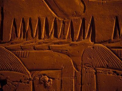 Images of Anubis near Ramesses II Reliefs and Karnak Temple, Egypt-Claudia Adams-Photographic Print