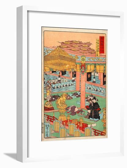 Images of the Fifteen Ashikaga Shoguns at the Toji-In in Kyoto-Kyosai Kawanabe-Framed Giclee Print