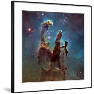 Images of the 'Pillars of Creation' in the Eagle Nebula