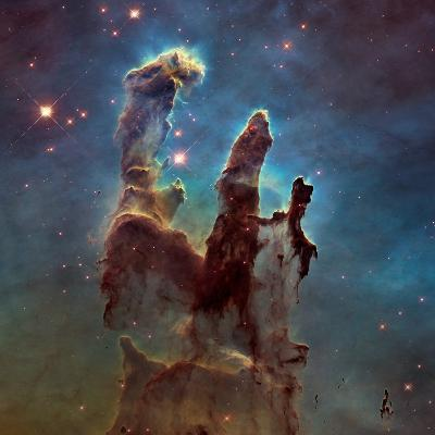 Images of the 'Pillars of Creation' in the Eagle Nebula--Photographic Print