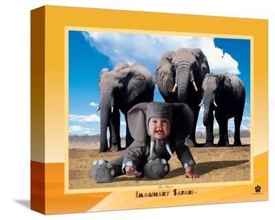 Imaginary Safari, Elephant-Tom Arma-Stretched Canvas Print
