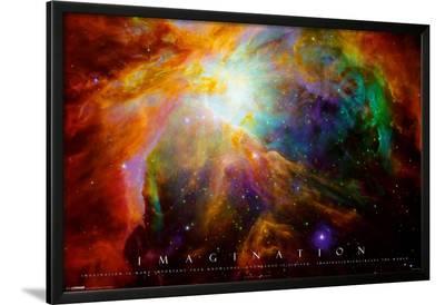 Imagination Nebula - Albert Einstein Quote--Lamina Framed Poster