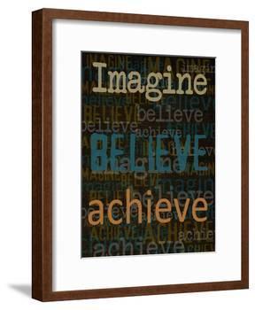 Imagine Believe Achieve-Taylor Greene-Framed Art Print