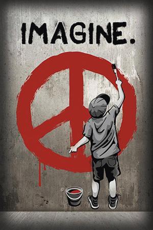 Imagine Peace Graffiti