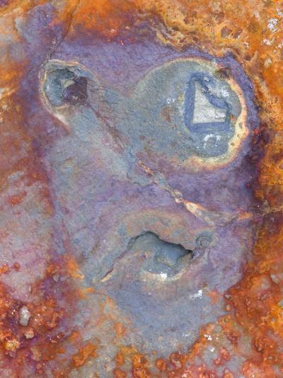 Imagined Face in Slate, Easdale, Scotland, UK-Niall Benvie-Photographic Print