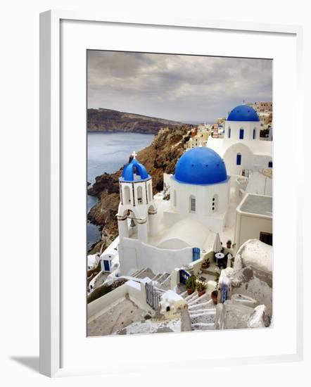 Imerovigli, Santorini, Greece-Adam Jones-Framed Photographic Print