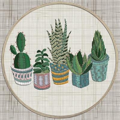 Embroidery Succulents, Cactus and Pots. Cactus Wall Art Embroidery Home Decor Cacti Succulents.