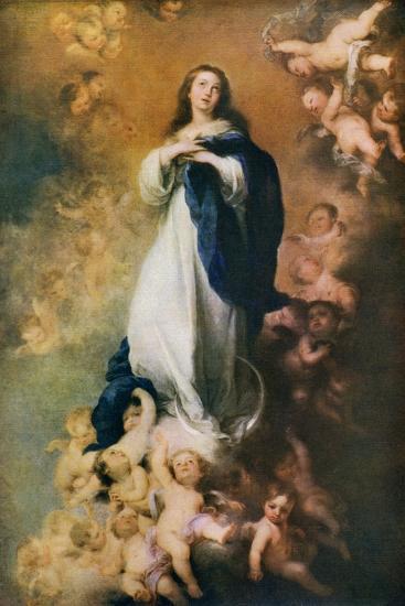 Immaculate Conception, C1678-Bartolom? Esteban Murillo-Giclee Print