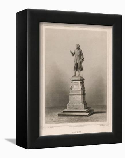 Immanuel Kant German Philosopher: Commemorative Statue in Konigsberg-E. Wagner-Framed Stretched Canvas Print