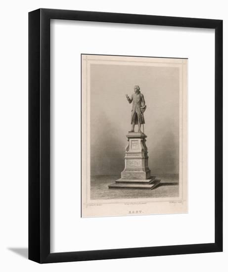 Immanuel Kant German Philosopher: Commemorative Statue in Konigsberg-E. Wagner-Framed Premium Giclee Print