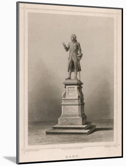 Immanuel Kant German Philosopher: Commemorative Statue in Konigsberg-E. Wagner-Mounted Premium Giclee Print
