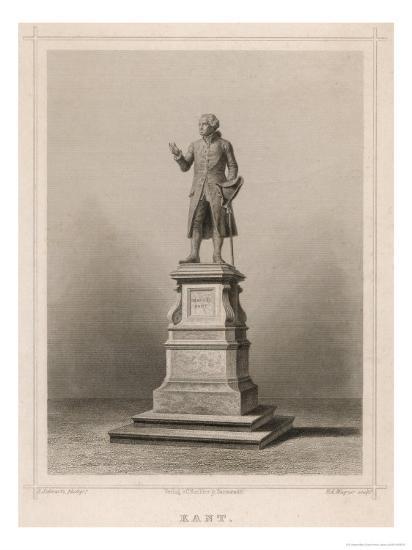Immanuel Kant German Philosopher: Commemorative Statue in Konigsberg-E. Wagner-Giclee Print