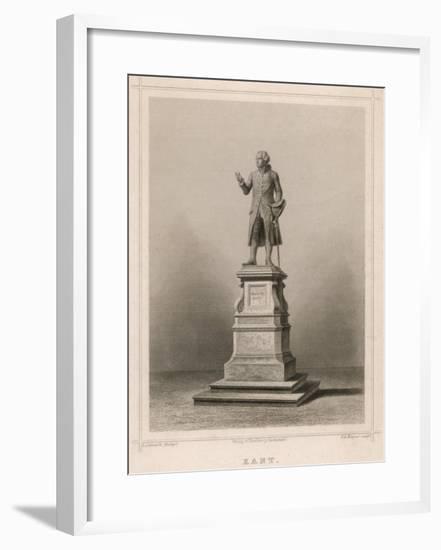 Immanuel Kant German Philosopher: Commemorative Statue in Konigsberg-E. Wagner-Framed Giclee Print