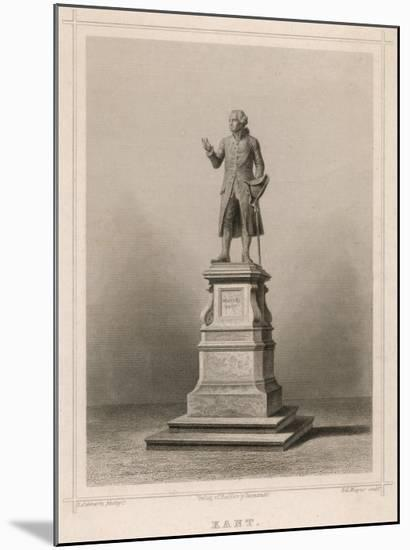 Immanuel Kant German Philosopher: Commemorative Statue in Konigsberg-E. Wagner-Mounted Giclee Print