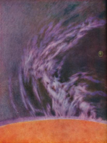 'Immense Eruption of a Solar Prominence 140,000 Miles High', c1935-Unknown-Giclee Print