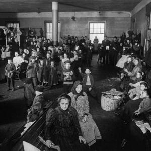 Immigrants Awaiting Examination at Ellis Island, 1902
