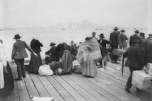 Immigrants Waiting for Ferry from Ellis Island to New York City, Oct. 20, 1912