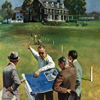 """Imminent Domain"", July 18, 1959-John Falter-Giclee Print"