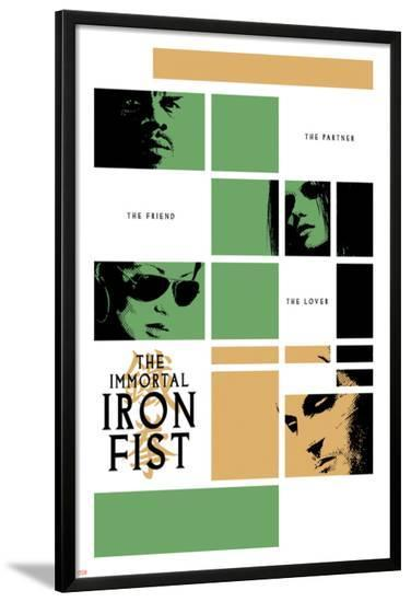 Immortal Iron Fist No.16 Cover: Cage, Luke and Iron Fist--Lamina Framed Poster