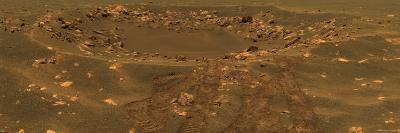 Impact Crater in the Meridian Planum Region of Mars-Stocktrek Images-Photographic Print