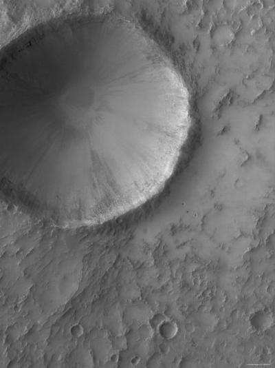 Impact Crater on Mars-Stocktrek Images-Photographic Print