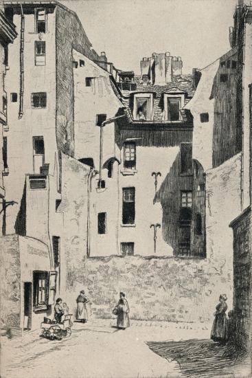 Impasse Du Boeuf, 1915-Otto J Schneider-Giclee Print