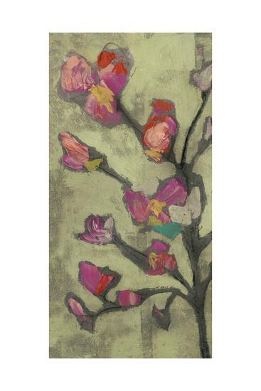 Impasto Flowers I-Jennifer Goldberger-Art Print