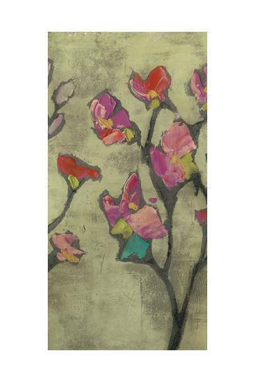 Impasto Flowers II-Jennifer Goldberger-Art Print