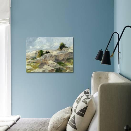 Impasto Mountainside I Art Print Ethan Harper Art Com