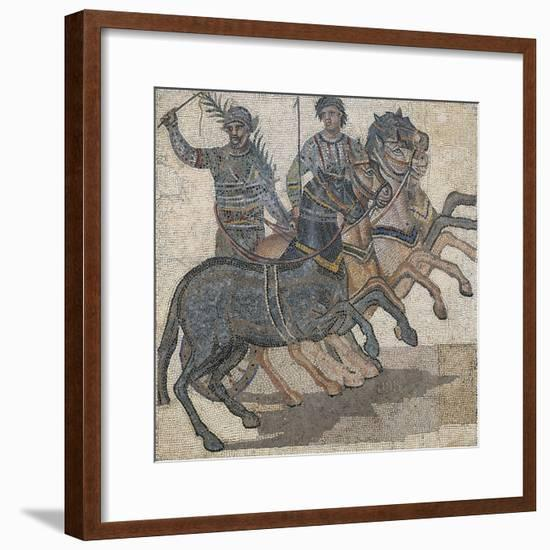 Imperial-Age Mosaic Depicting Chariot Race, 3rd Century--Framed Giclee Print