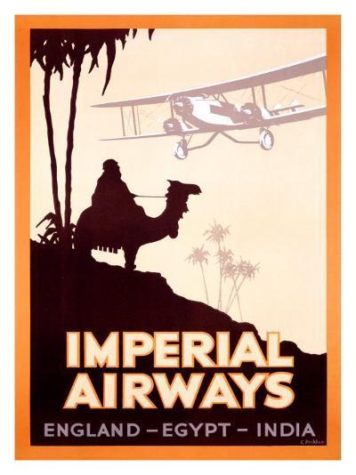 Imperial Airways, England-Egypt-India- Peckham-Giclee Print
