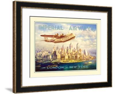Imperial Airways - London to New York-The Vintage Collection-Framed Giclee Print