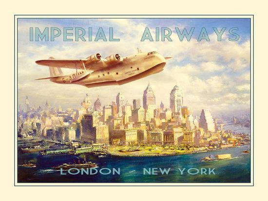 Imperial Airways - London to New York-The Vintage Collection-Photographic Print