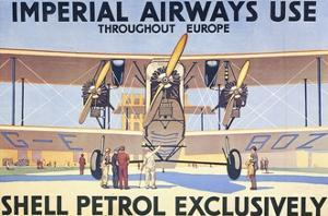 Imperial Airways Use Shell Petrol Exclusively Poster