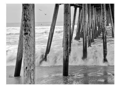 Imperial Beach Pier #1-Murray Bolesta-Art Print
