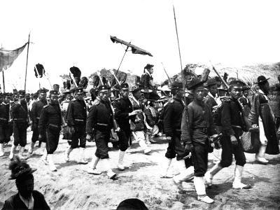 Imperial Japanese Procession, 1900--Giclee Print