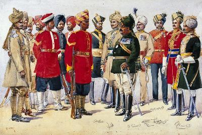 Imperial Service Troops, Illustration from 'Armies of India' by Major G.F. MacMunn, Published in…-Alfred Crowdy Lovett-Giclee Print