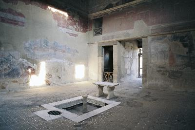 Impluvium, House of Mosaic Atrium, Herculaneum--Photographic Print