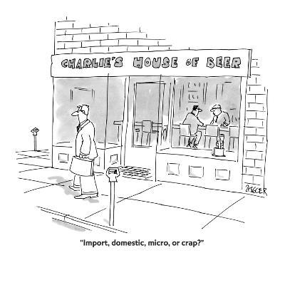"""Import, domestic, micro, or crap?"" - Cartoon-Jack Ziegler-Premium Giclee Print"