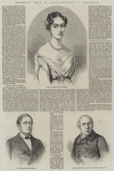 Important Trial in Paris, Bonaparte V Bonaparte-Thomas Harrington Wilson-Giclee Print