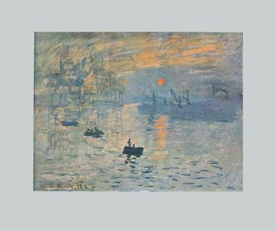 Impression (hand-made paper)-Claude Monet-Collectable Print