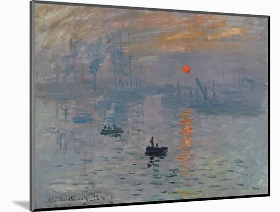 Impression: Sunrise, 1872-Claude Monet-Mounted Premium Giclee Print