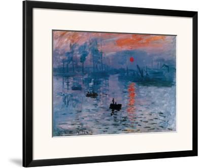 Impression, Sunrise, c.1872-Claude Monet-Framed Art Print