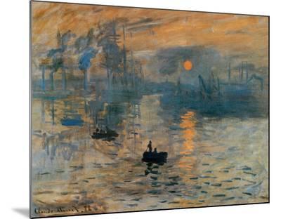 Impression, Sunrise, c.1872-Claude Monet-Mounted Print