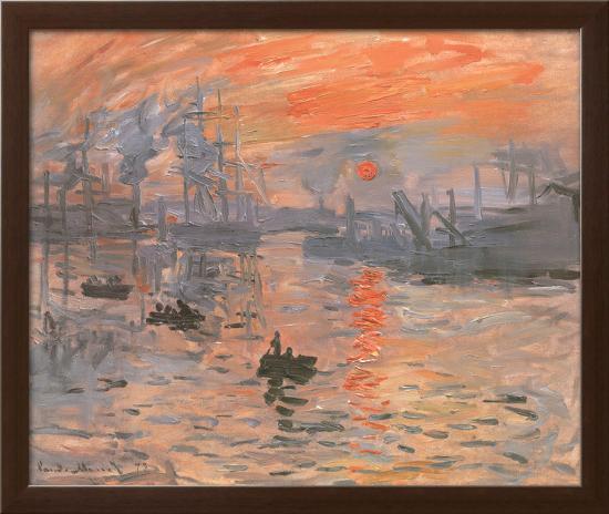 Impression, Sunrise-Claude Monet-Framed Textured Art