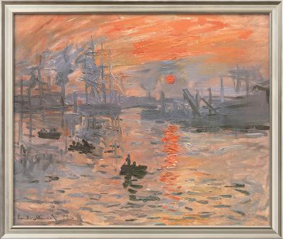 Impression, Sunrise-Claude Monet-Framed Textured Art