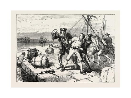 Impressment of Bostonians by Knowles, USA, 1870S--Giclee Print
