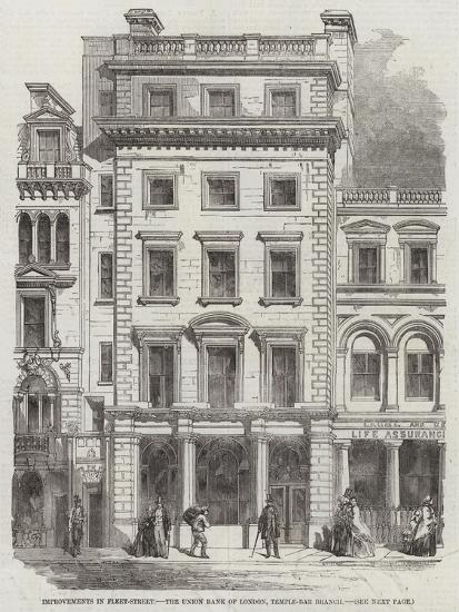 Improvements in Fleet-Street, the Union Bank of London, Temple-Bar Branch--Giclee Print