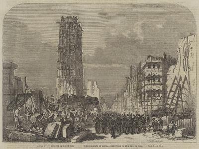 Improvements in Paris, Extension of the Rue De Rivoli--Giclee Print